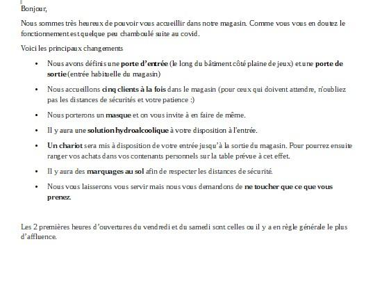 Recommandation magasin 3